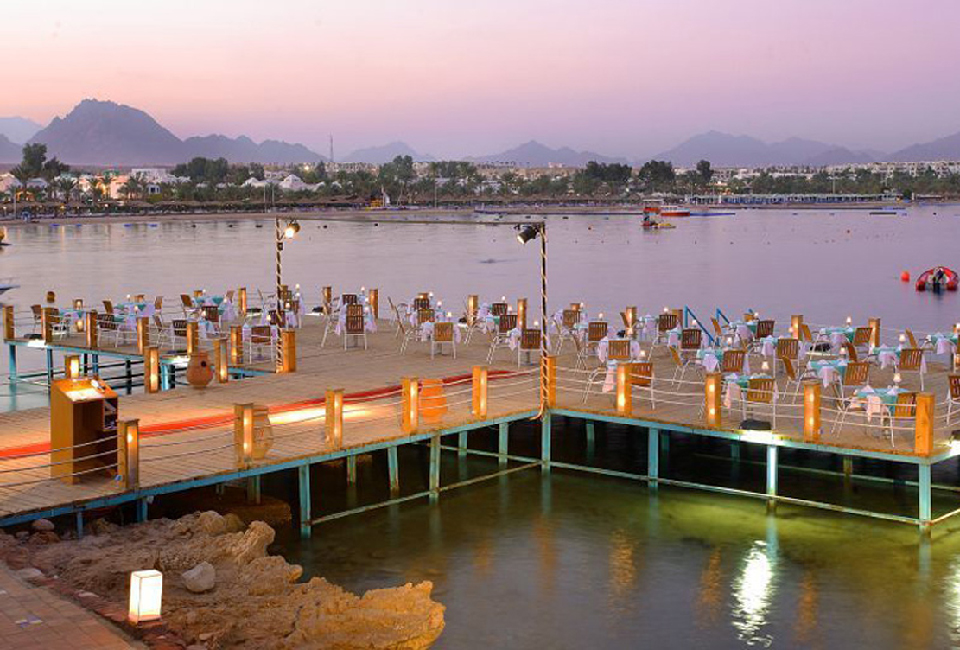 The beach for Lido & Eden Rock Hotels is at the marina of Na'ama Bay